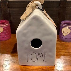Rae Dunn home birdhouse.